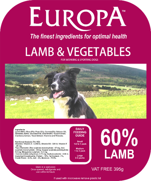 Picture of Europa Lamb & Vegetables 395g Tray