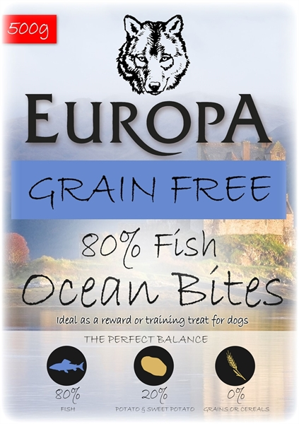 Picture of Ocean Bites Grain FreeTraining Treat 80/20 Fish 500g