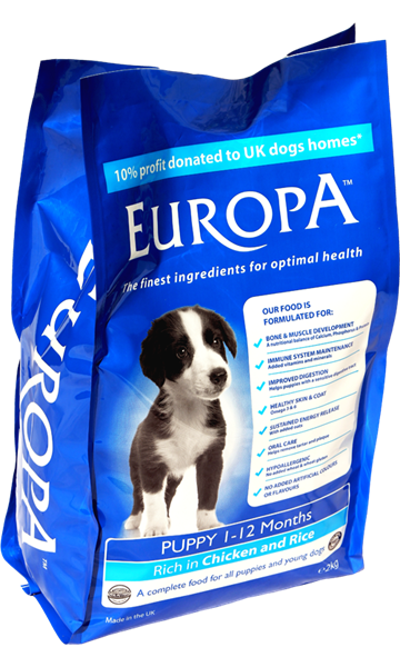 Picture of Europa Puppy / Junior Chicken & Rice 2kg