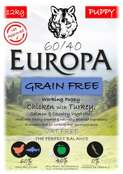 Picture of SPECIAL OFFER Europa 60/40 Grain Free Puppy Chicken & Turkey 2 X 12kg