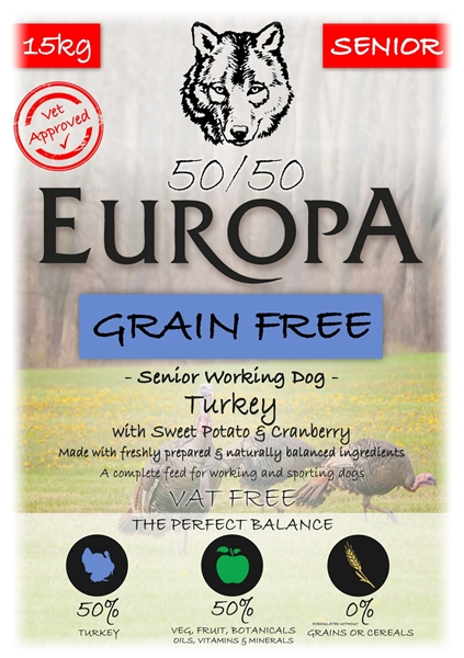 Picture of Europa Turkey Senior 50/50 with Sweet Potato & Cranberry 15kg
